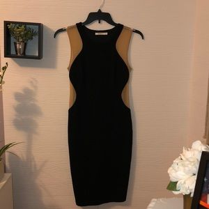 Bailey 44 black and nude mesh bodycon dress size M